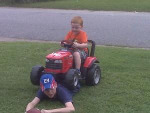 ethan and hunter 4 wheeler 2009